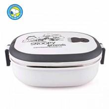 史努比(Snoopy)全家福单层保温饭盒 食品级PP塑料 高真空不锈钢内胆