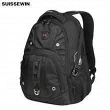 瑞士军刀(SWISSWIN)书包 多功能双肩背包SW9206金属拉链环保面料