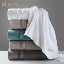 康尔馨 毛巾 铂丽思纯棉洗脸巾4色套装 纯色全棉吸水大面巾 4色4条装 75x34cm*140g
