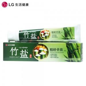 LG 牙膏 韩国进口 竹盐精研卓效牙膏 2倍天然竹盐 卓效呵护牙齿牙龈170g*2(两支装)