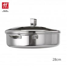 双立人 煎锅炖锅28cm 双柄不锈钢锅具 双耳煎炒锅