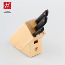 双立人 刀具四件套 经典刀具 桦木刀架 水果刀菜刀 实用套装