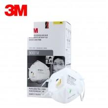 3M 口罩 KN90 25只/盒 自吸过滤式 防颗粒物呼吸器 有呼气阀 9001V