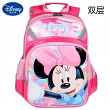 迪士尼 儿童书包SD10003 带隔层 加宽加厚透气肩带  减负学生书包 双肩背包