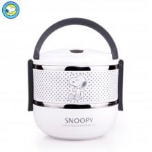 史努比(Snoopy)饭盒 双层 不锈钢内胆 长时间保温饭盒 餐盒DF-8006