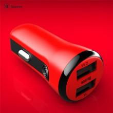 倍思 车充 充动系列 双USB 运动车充2.1A