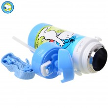 史努比 儿童吸管杯 食品级PP塑料 高真空不锈钢内胆 随身杯