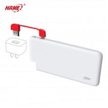 华美(HAME)移动电源 T6 超薄聚合物充电宝 10000mAh
