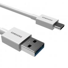 三星(SAMSUNG)Type-C手机充电线 S10+/NOTE9/S8 安卓三星/华为/小米充电器 1.5米白色
